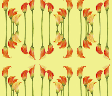 Calla Lily Reflection fabric by claredean on Spoonflower - custom fabric