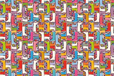 Graphic-wellies fabric by cassiopee on Spoonflower - custom fabric