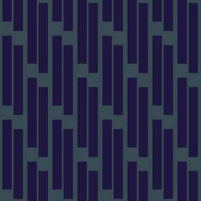 stripes- cobalt on slate