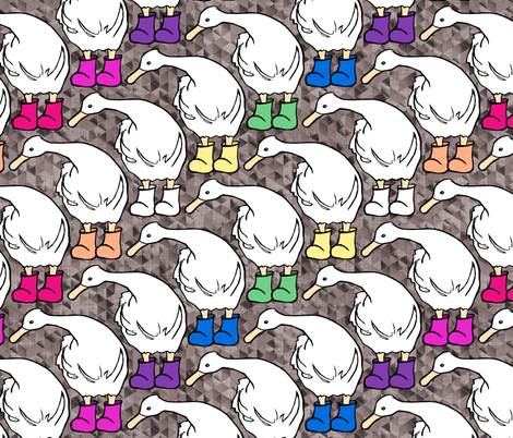 Ducks in the Mud fabric by pond_ripple on Spoonflower - custom fabric