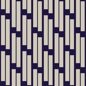 stripes -putty on cobalt