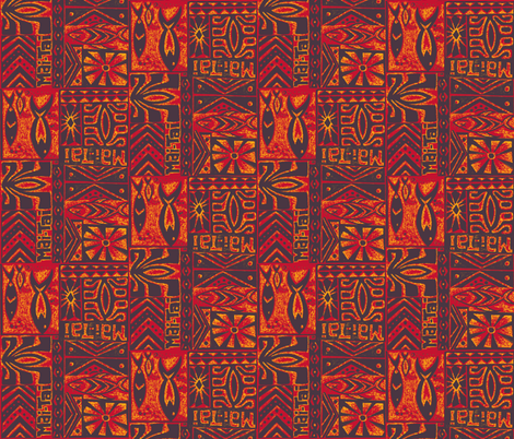 Mai Tai Orange Curacao fabric by sophista-tiki_by_dawn_frasier on Spoonflower - custom fabric