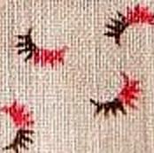 Red and Brown Semi Circles Calico