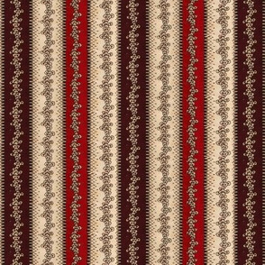Red and Brown Stripe Calico