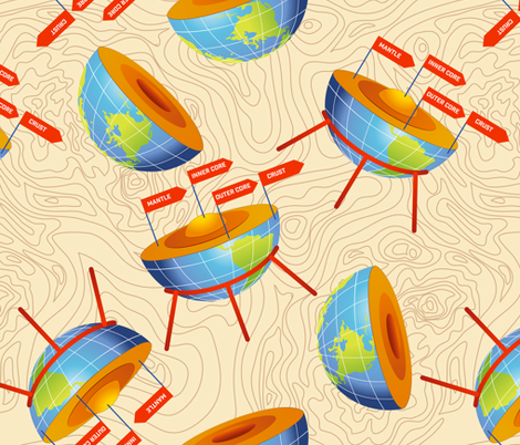 The Earths Core fabric by diane555 on Spoonflower - custom fabric