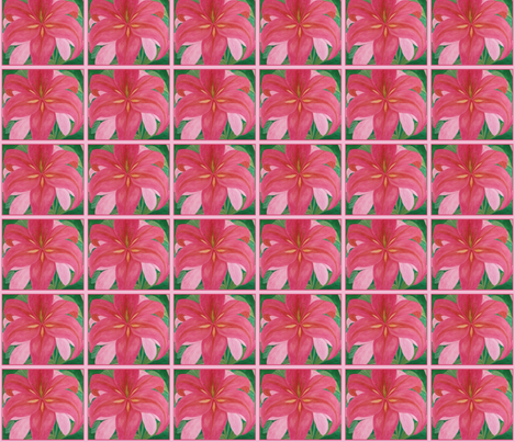 Pink_Lily_17x18_2013 fabric by daisigns on Spoonflower - custom fabric