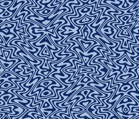 Art nouveau butterfly swirls - blue fabric by weavingmajor on Spoonflower - custom fabric