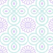 Yasmine Tile Print in Lavender/Duck egg blue