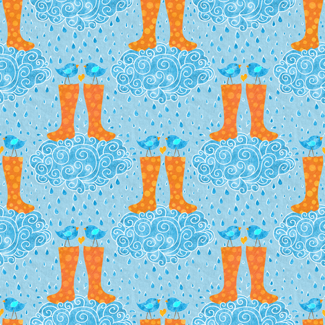 Tweet Love fabric by vo_aka_virginiao on Spoonflower - custom fabric