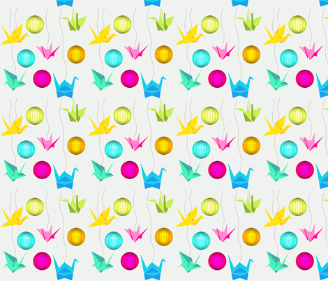 Origami fabric by un_temps_de_coton on Spoonflower - custom fabric
