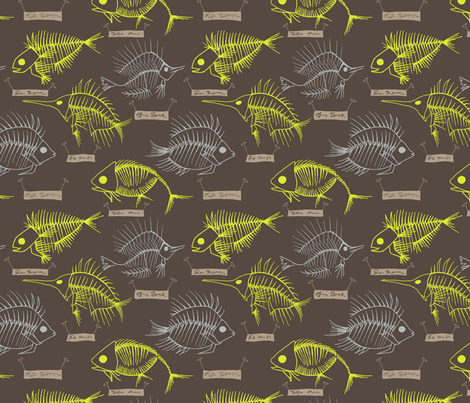 Backyard Discoveries (yellow & grey) fabric by maile on Spoonflower - custom fabric