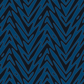 feather zigzag in twilight blues