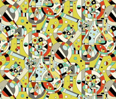 Molecular Mayhem fabric by celiaforrester on Spoonflower - custom fabric