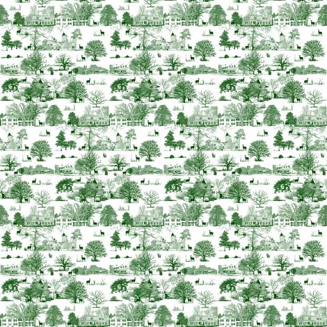 FieldCrest Toile 2014 fabric by tracydb70 on Spoonflower - custom fabric