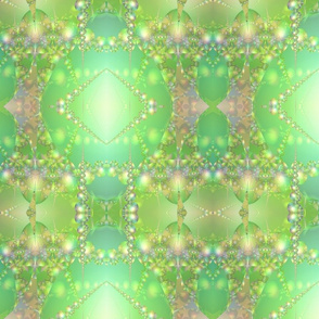 Spring Green Bubble Fractal