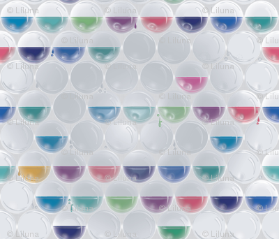 Bubble wrap stain glass