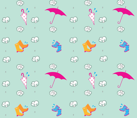 RainyDayGaloshes fabric by colleen_currans_bush on Spoonflower - custom fabric