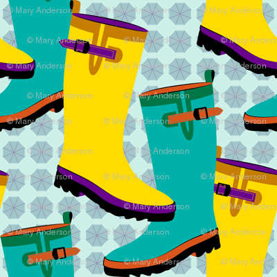 Rain Boots Colorful