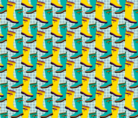 Rain Boots Colorful fabric by anderson_designs on Spoonflower - custom fabric