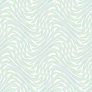 Art Nouveau feather swirl - pale mint