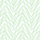 feather zigzag in pale mint