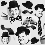 LAUREL AND HARDY B&W