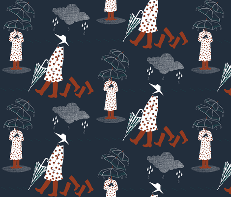 Spring showers.. fabric by mirjamauno on Spoonflower - custom fabric