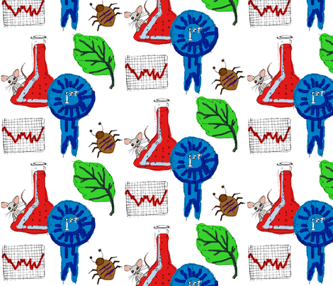 Sketchy Science Fair fabric by art_rat on Spoonflower - custom fabric