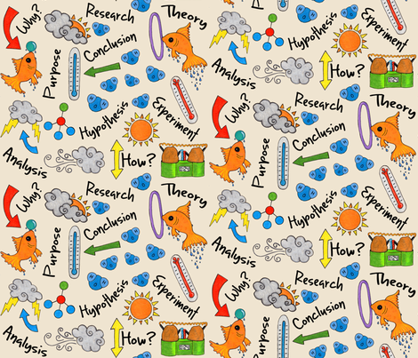 Science Fair Ideas fabric by creativefiasco on Spoonflower - custom fabric