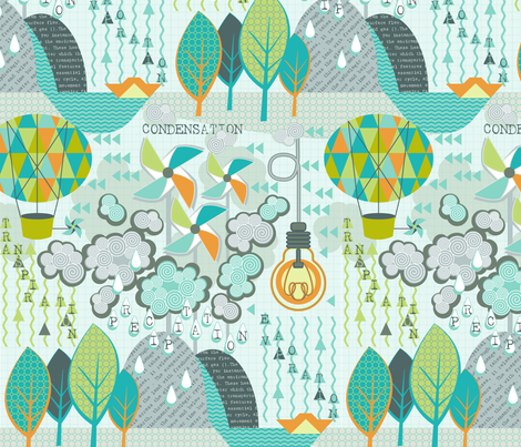 The Hydrologic Cycle fabric by cjldesigns on Spoonflower - custom fabric