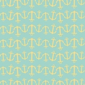 anchor wave yellow seafoam