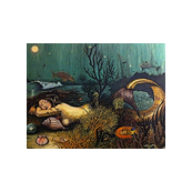 Sleeping Mermaid Altered Art