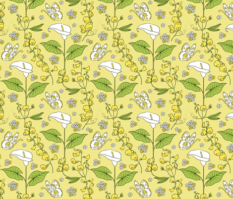 lilies fabric by kiyanochka on Spoonflower - custom fabric