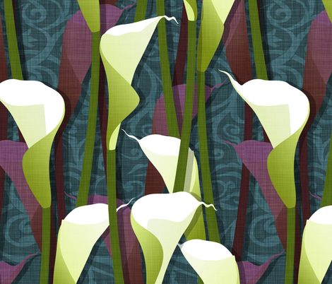 Calla Lily fabric by spellstone on Spoonflower - custom fabric