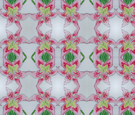 Lovely lilies fabric by stylisedpatterns on Spoonflower - custom fabric