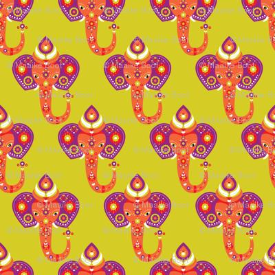 Exotic indian elephant purple
