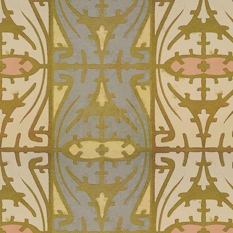 Art Nouveau Serpentine 1d fabric by muhlenkott on Spoonflower - custom fabric