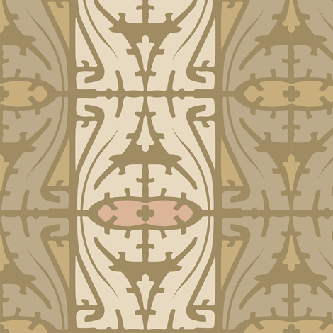 Art Nouveau Serpentine 1d fabric by muhlenkott on Spoonflower - custom fabric