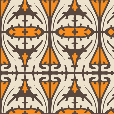 Art Nouveau Serpentine 1c fabric by muhlenkott on Spoonflower - custom fabric