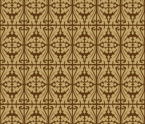 Art Nouveau Serpentine 1a fabric by muhlenkott on Spoonflower - custom fabric