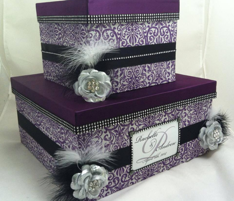Purple Grey Damask