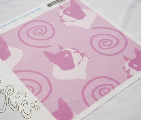 Whimsical Boston Terrier faces - pink
