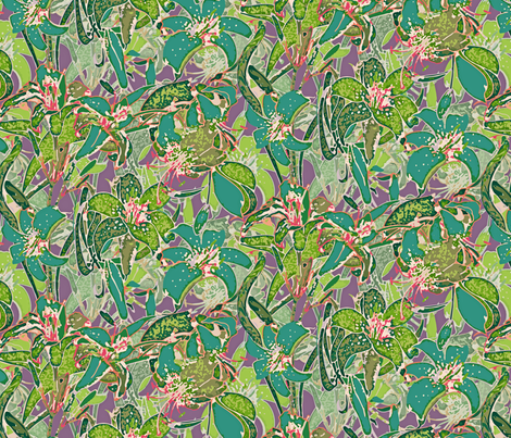 Ode To Springtime Lillies fabric by mktextile on Spoonflower - custom fabric