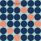 happydots coral bark blue
