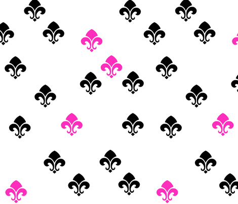 fleur de lis fun fabric by likesluxuryfabrics on Spoonflower - custom fabric