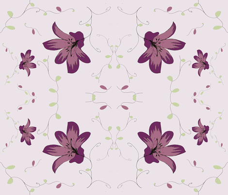 Dreaming Of Lilies fabric by therustichome on Spoonflower - custom fabric