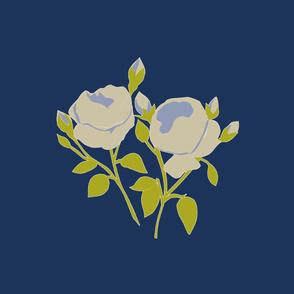 French Rose Blue Large