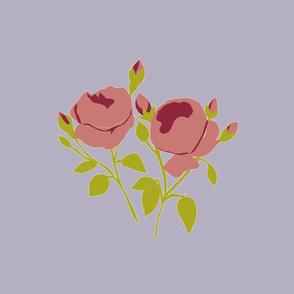 French Rose Burgundy Large