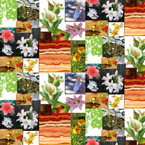 Lilies-2-ed fabric by likesjewellery on Spoonflower - custom fabric