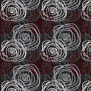 Winter Bed of Roses Swirl